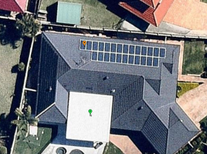 Solar array on a north roof