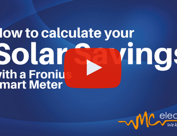 How to calculate your solar savings with a Fronius smart meter.