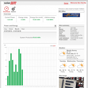 SolarEdge monitoring platform