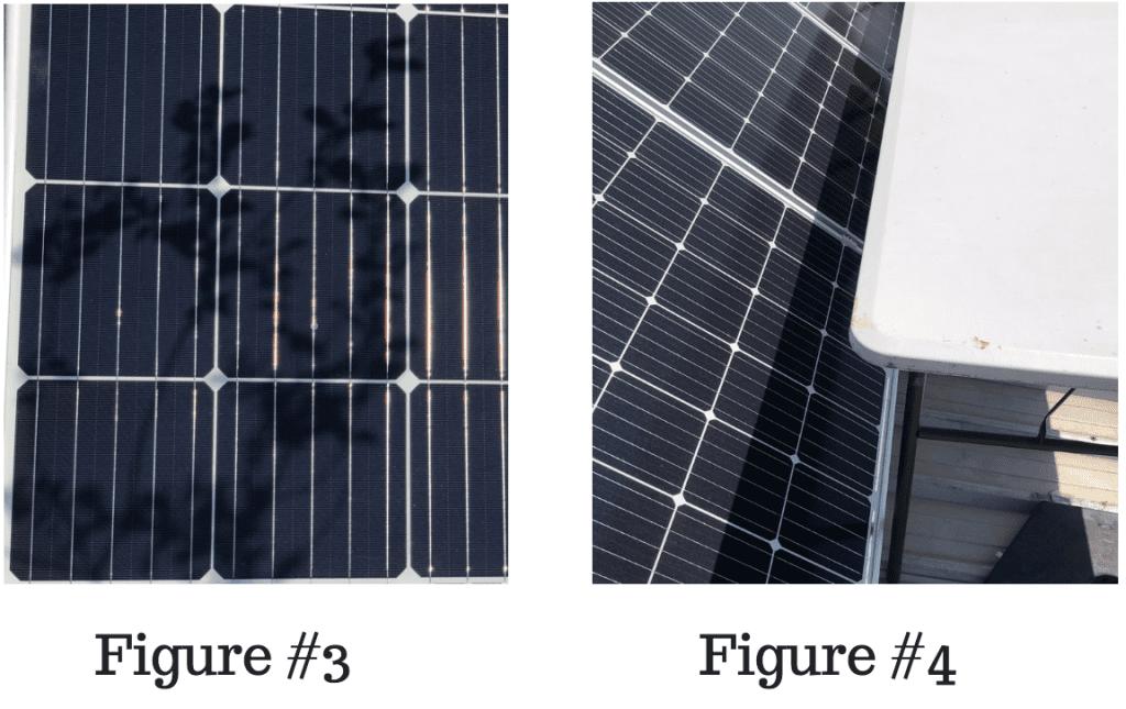 Solar panel in shade