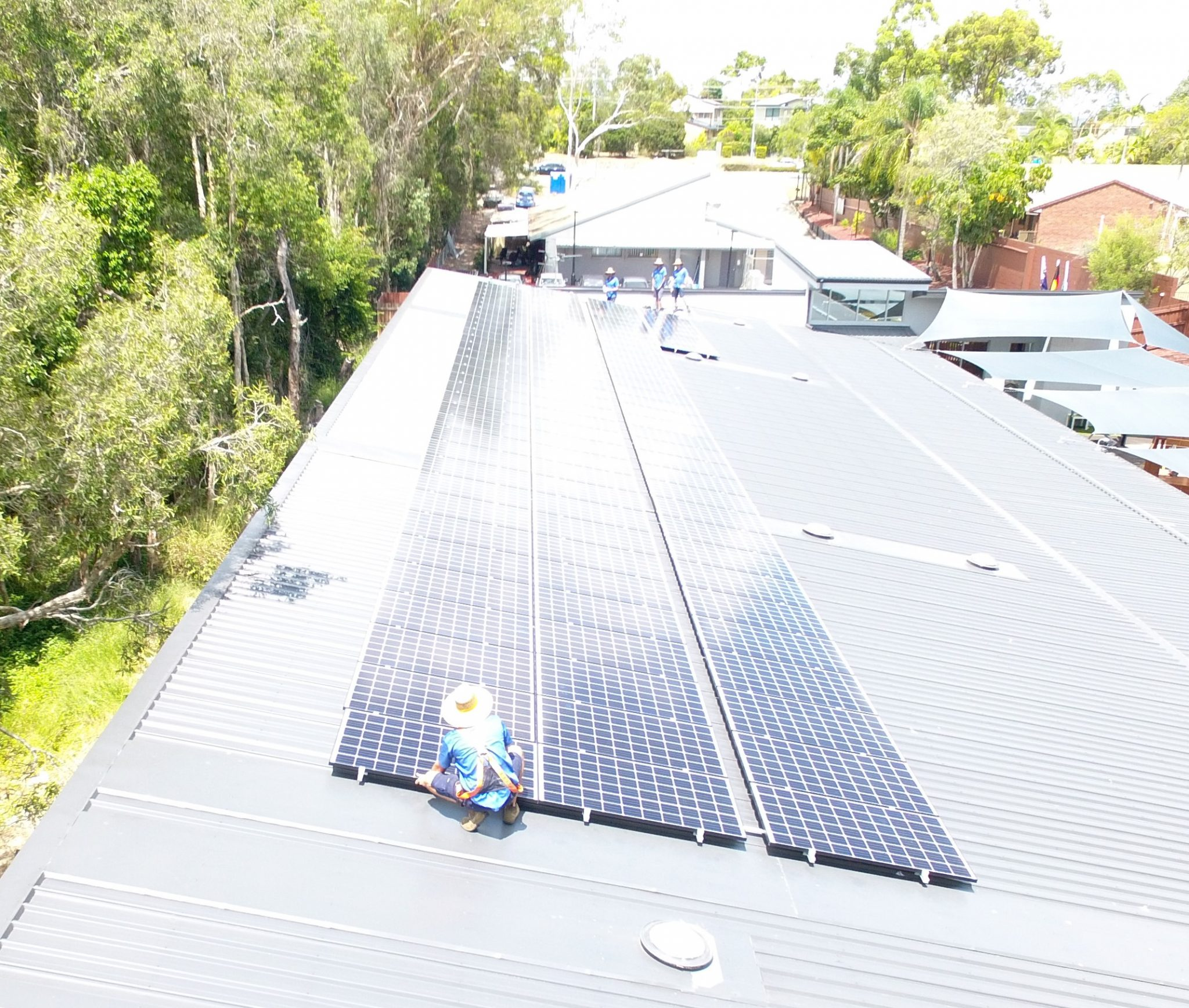 commercial solar array