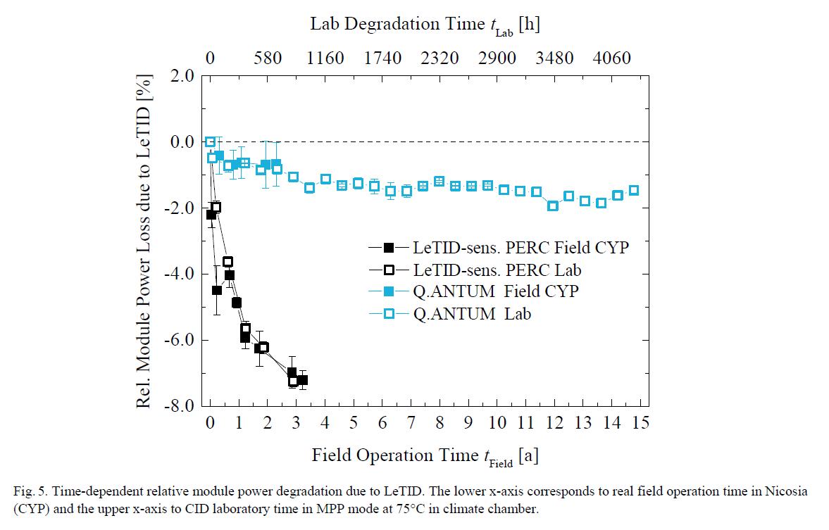 Qcells Q.ANTUM LeTID PERC solar cell supression